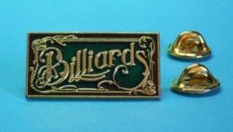 1 PIN'S //   ** BILLARDS ** . / Double Attaches - Billard