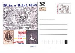 Rep. Ceca / Cart. Postali (Pre2016/41) 333 ° Anniversario Della Battaglia Di Vienna (1683) - A (difensori Di Vienna) - Geografia