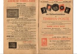 JOURNAL MENSUEL MAURY - LE COLLECTIONNEUR DE TIMBRES-POSTE - AVRIL/MAI 1927 - Autres Livres