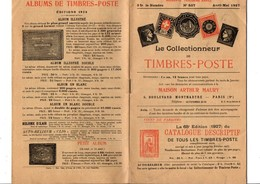 JOURNAL MENSUEL MAURY - LE COLLECTIONNEUR DE TIMBRES-POSTE - AVRIL/MAI 1927 - Timbres