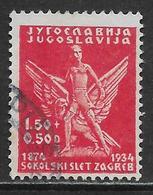 Timbre De Yugoslavia Oblitérer En Parfaite état, No: 259, Y & T, USED - 1931-1941 Royaume De Yougoslavie
