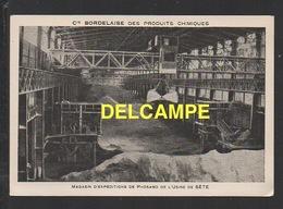 DD / 34  HERAULT / SÈTE / MAGASIN D' EXPÉDITION DE PHOSAMO DE L' USINE DE SÈTE / AU DOS PUBLICITÉ : LES ENGRAIS - Sete (Cette)