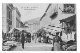 LA VOULTE  (cpa 07)  Le Marché Dans La Grand Rue -  ## TRES RARE ##  TBE - L 1 - La Voulte-sur-Rhône
