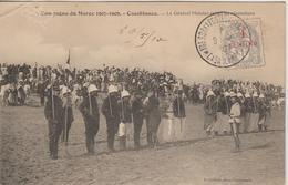 Maroc Oblitération 1911 Trésor Et Postes Aux Armées Casablanca Sur CPA - Storia Postale
