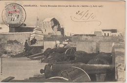 Maroc Oblitération 1911 Trésor Et Postes Aux Armées Casablanca Sur CPA - Brieven En Documenten