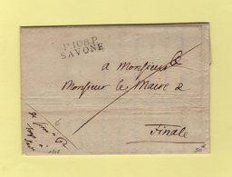 Savone - 108 - Port Paye - Franchise Du Procureur De 1808 - Departement Conquis De Montenotte - 1792-1815: Conquered Departments