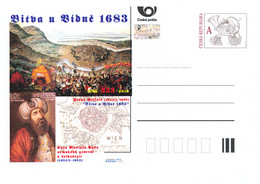 Rep. Ceca / Cart. Postali (Pre2016/42) 333 ° Anniversario Della Battaglia Di Vienna (1683) - B (esercito Ottomano) - Geografia