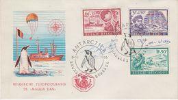Belgium 1966 Antarctic Expeditions 3v FDC Signed By Designers Jean De Vos & Paul Verheyden (40842) - 1961-70