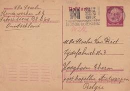 Entier Postal Lübeck Deutschland 1941 Deutsche Rote Kreuz Anvers Belgique WW2 Croix Rouge Red Cross - Allemagne