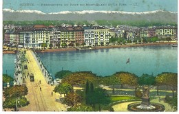 Genève - Perspective Du Pont Du Mont-blanc Et Le Jura - GE Ginevra