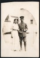 B7801 - Hübsche Junge Frau Und Soldat - 1. WK WW - Vintage - Fotografie