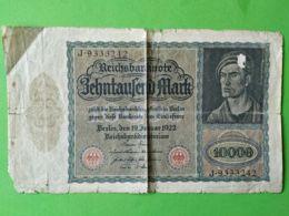 10000 Mark 1922 - [ 3] 1918-1933 : República De Weimar