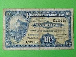 10 Shillings 1954 - Gibilterra