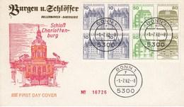 FDC HBl 29 Burgen Und Schlösser Mit 10 + 10 + 50 +  80 CD, Bonn1 - FDC: Briefe