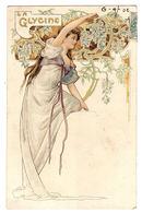 FEMME - FLEURS - La GLYCINE - Style ART NOUVEAU - Donne