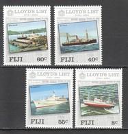 G926 1984 FIJI SHIPS & BOATS LLOYD'S LIST ANNIVERSARY FIRST EDITION 1SET MNH - Barcos