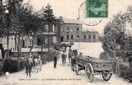 S591 - Cpa 08  Signy Le Petit - La Fonderie Et Square De La Gare - France