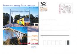 Rep. Ceca / Cart. Postali (Pre2016/46) Ponti Ferroviari In Boemia, Moravia E Slesia (1) Ponte Bechyne - Interi Postali