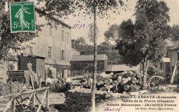 S599 - Cpa 08  Signy L'Abbaye - Usine De La Pierre Glissante, Scierie Mécanique - Jacques Frères - France