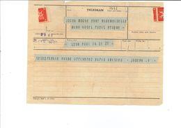 """Telegramm Prag Praha Prague Lyon Mano Hotel """"Kable Mir Sobald In Paris Angekommen"""" - 1850-1918 Empire"""