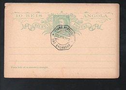 1919 3 Used Card Sao Salvador (104) - Angola