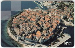 CROATIA C-956 Chip HT - View, Historic Town - Used - Croatia