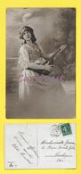 CPA 1913 JOLIE PETITE FILLE GITANE CHEVEUX LONG AVEC SA MANDOLINE PRETTY LITTLE GIRL LONG HAIR - Portraits