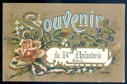 Cpa Militaria Souvenir Du 114 ème D' Infanterie  SEPT18-18 - Régiments