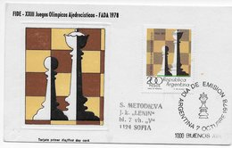 Argentina 1978; Chess FDC Buenos Aires - Argentina