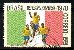 BRESIL. N°937 Oblitéré De 1970. Vainqueur Brésil/Pelé. - 1970 – Mexico