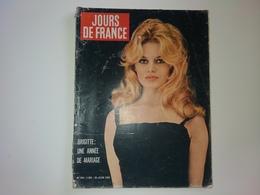 Jours De France  N° 293  BRIGITTE BARDOT Une Année De Mariage  ..  NICE 100 Ans De Vie Française 25/06/1960 - People