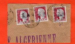 ALGÉRIE - TIMBRE SUR FRAGMENT - MARIANNE DE DECARIS 0.25 C. SURCHARGÉE EA - INDÉPENDANCE ALGÉRIENNE - 158 - Algérie (1962-...)