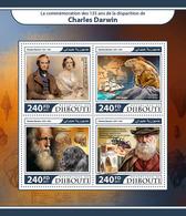 DJIBOUTI 2017 - Darwin, Chimpanzee - YT 1536-9; CV=20 € - Chimpanzés