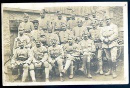 Cpa Carte Photo Groupe De Militaires Photo Prise Le 11 Novembre 1918  SEPT18-18 - Régiments