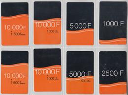 CÔTE D'IVOIRE - TÉLÉCARTE - GSM & RECHARGE ***  ORANGE - 8 X DIVERS  *** - Ivoorkust