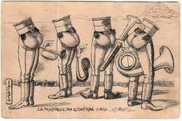 CPA PATRIOTIQUE.LA MUSIQUE DU GENERAL OKU.ILLUSTRATEUR JACOTO - France