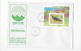 Enveloppes Premier Jour Expo 75 Malagasy - Universal Expositions