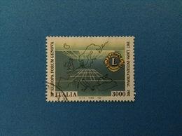 1992 ITALIA FRANCOBOLLO USATO STAMP USED - LIONS INTERNATIONAL - 1991-00: Usati