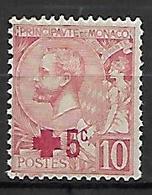 MONACO    -    1914 .   Y&T N° 26 * .  Croix-rouge - Monaco