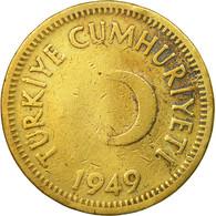 Monnaie, Turquie, 25 Kurus, 1949, TB, Laiton, KM:886 - Turquie