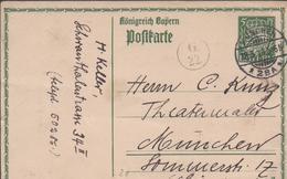 3327     Entero Postal  Munchen 1914 ,verde - Bavaria
