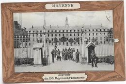 MAYENNE Militaria Belle Cpa à Système SOUVENIR Du 130° REGIMENT D'INFANTERIE - Mayenne