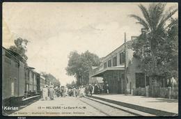 """Relizane - La Gare P.L.M. - """"La Gazelle"""" Mustapha Zerguelain éditeur N° 13 - Voir 2 Scans - Andere Steden"""
