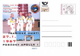 Rep. Ceca / Cart. Postali (Pre2017/02) Apollo 1 (27.1.1967, 50 Anni) V. I. Grissom, E. H. White, R. B. Chaffee - Interi Postali