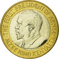 Monnaie, Kenya, 10 Shillings, 2005, British Royal Mint, TTB, Bi-Metallic - Kenya