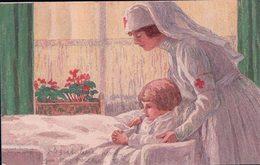 Carte Fête Nationale Suisse 1921, Infirmière Et Enfant (16.7.21) - Other