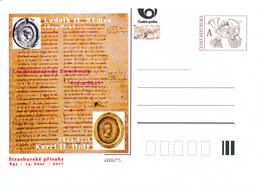 Rep. Ceca / Cart. Postali (Pre2017/04) Giuramenti Di Strasburgo; Luigi Il Tedesco (805-876) E Carlo Il Calvo (823-877) - Idioma