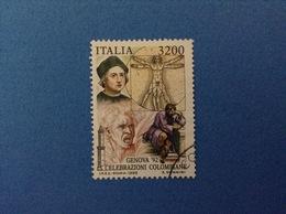1992 ITALIA FRANCOBOLLO USATO STAMP USED - COLOMBO 3200 - 1991-00: Usati