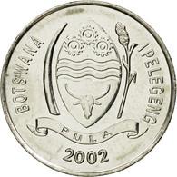 Monnaie, Botswana, 10 Thebe, 2002, British Royal Mint, TTB, Nickel Plated Steel - Botswana