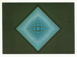 Hungary, Vasarely, Vega-blue. - Peintures & Tableaux